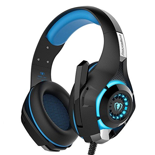 [Latest Version Gaming Headset For PS4] 3.5mm Gaming Headset LED Light Over-Ear Headphones with Microphone Volume Control for PS4 Laptop Tablet Mobile Phones