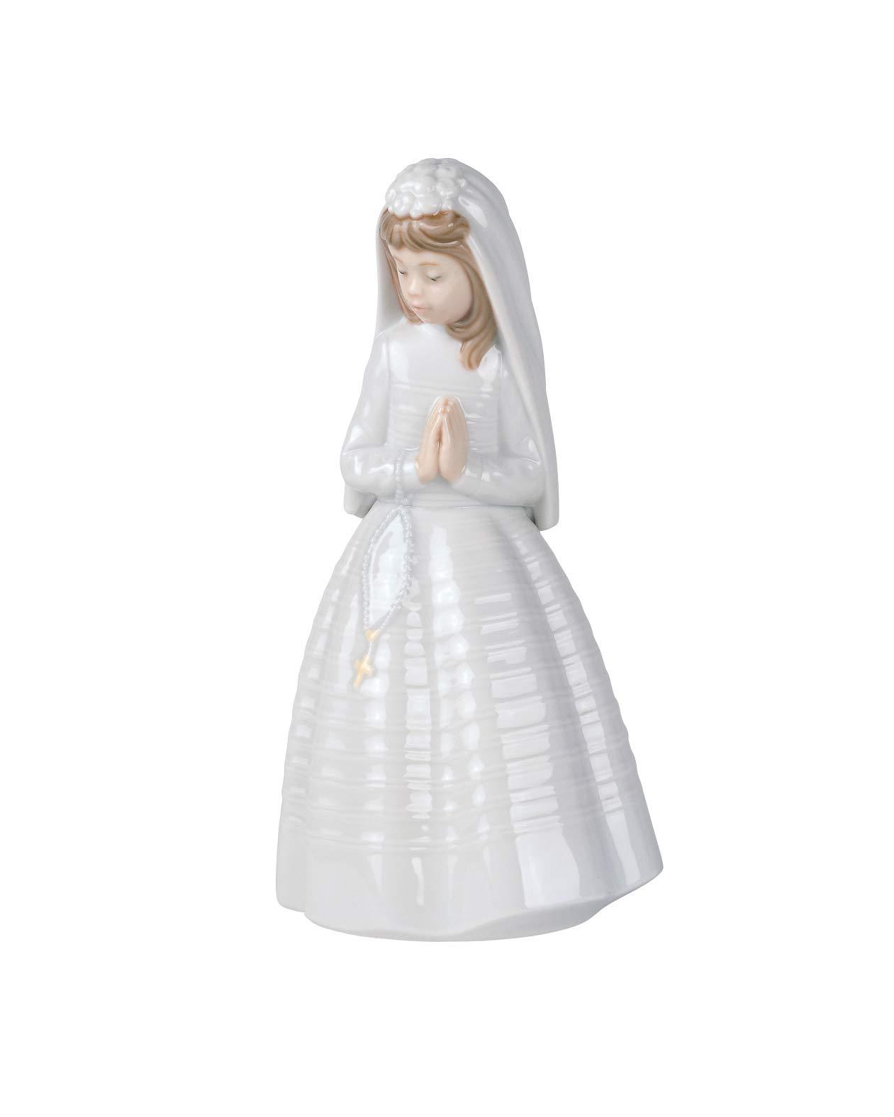 NAO Girl Praying. Porcelain Communion Figure.