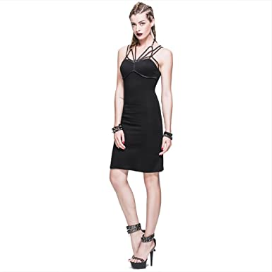 Amazon Gothic Punk Sexy Womens Dress Summer Mini Short Tight