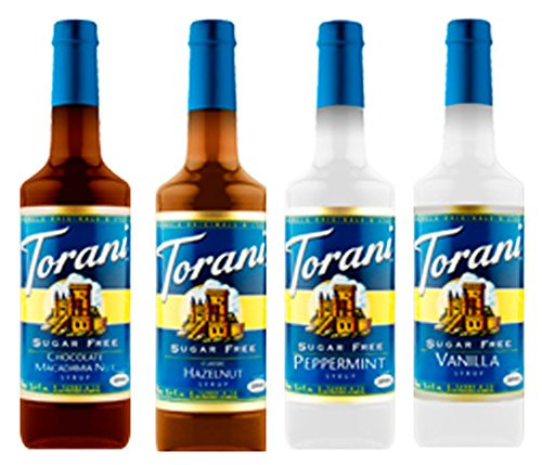 Torani Sugar Free Syrup Holiday Variety Pack, 25.4 Ounce (Pack of 4)
