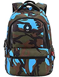 MATMO Cool Camo Backpack Water-Resistant School Student Book Bag for Boys