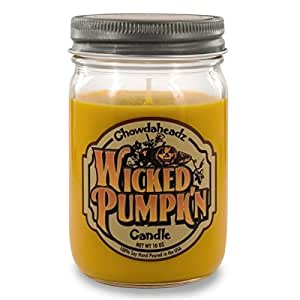 Chowdaheadz Wicked Pumpkin Candle 100% Soy, All Natural, Made In The USA