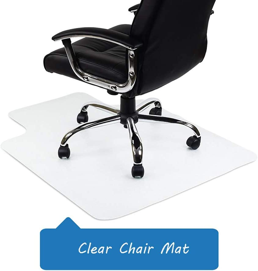 Home Clear Chair Mat Floor Protection Carpet Office Chairs Pad 90X120cm Non-slip