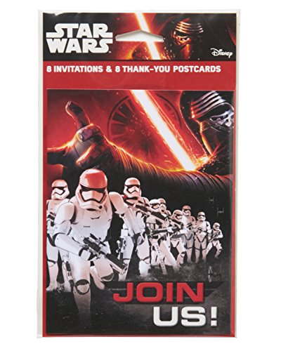 American Greetings Star Wars Episode VII Invite & Thank-You Combo Pack, 8 Count, Party Supplies -