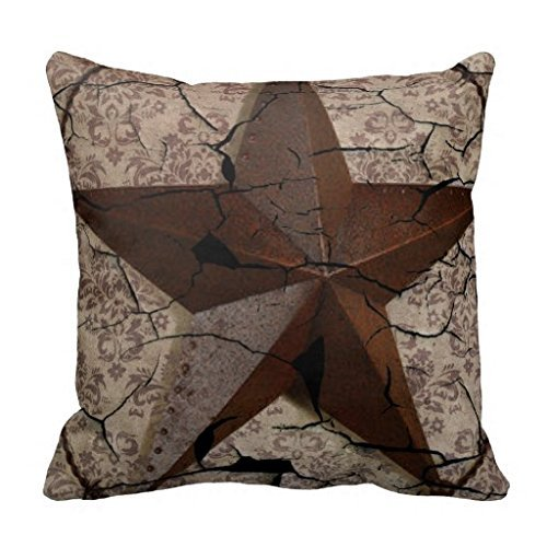 Grunge Rustic Texas Star Western Country Art 18*18 pillow Case