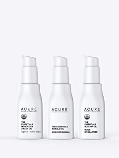 product image for Acure The Essentials Oil Starter Kit - 100% Vegan & For Any Skin & Hair Care Regimen, Includes Moroccan Argan Oil, Marula Oil & Rosehip Oil, 3 Count