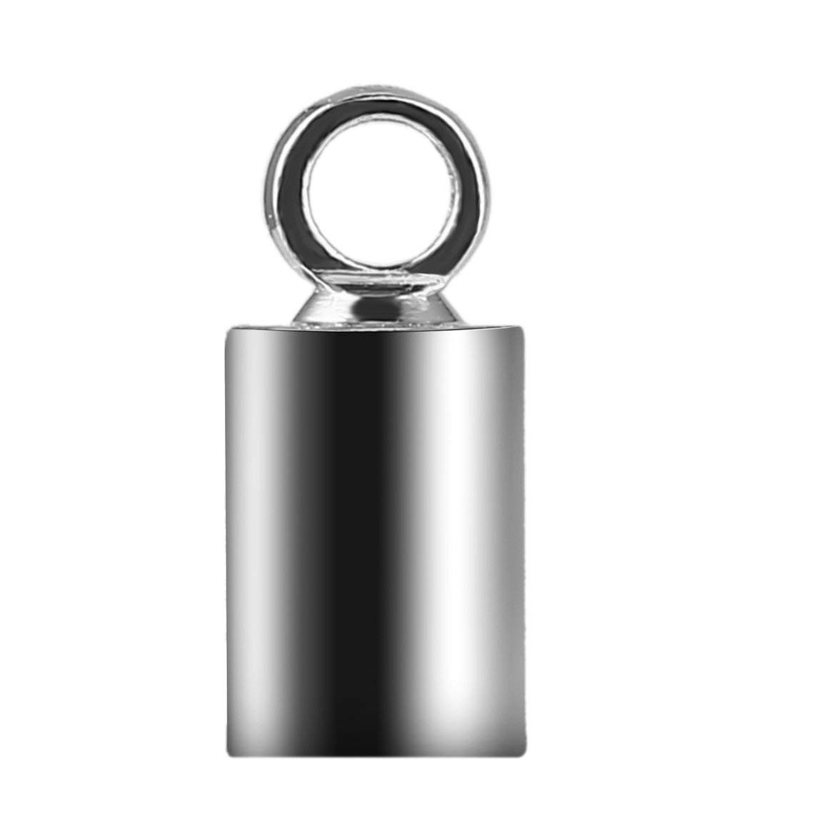 Zinniaya 100pcs Argent Couleur M/étal Crimp Bouts De Boucle Boucle 4 9mm pour Collier Bracelet Boucle De Cha/îne Fermoir DIY R/ésultats de Bijoux