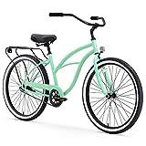 "sixthreezero Around The Block Women's Single Speed Beach Cruiser Bicycle, 24"" Wheels, Mint Green, 14""/One Size"