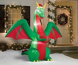 Inflatable Christmas Dragon.B076xrqdn8 Classic Space