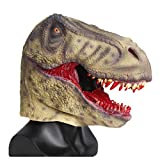 Scary Bloody Tyrannosaurus Dinosaur Mask Horror Halloween One Size Evil Bloody Teeth Dinosaur T-Rex Mask