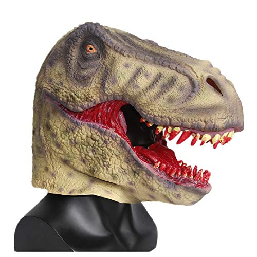Scary Bloody Tyrannosaurus Dinosaur Mask Horror Halloween One Size Evil Bloody Teeth Dinosaur T-Rex Mask by Halloween Paradise (Image #2)