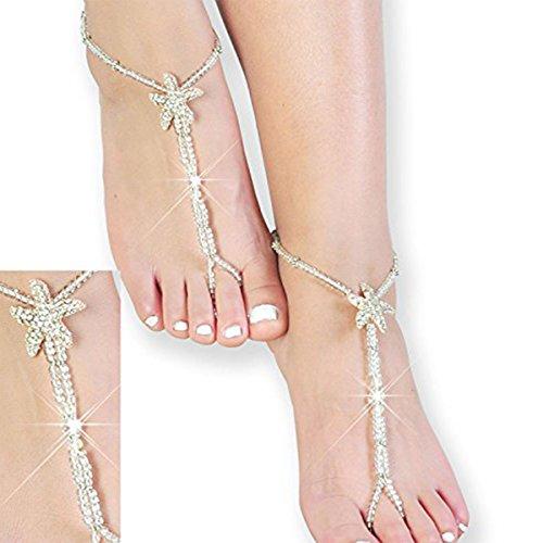 Beaded Bridal Barefoot Sandals,Wedding Anklet,Crystal Sandals,Bridesmaid Gift -