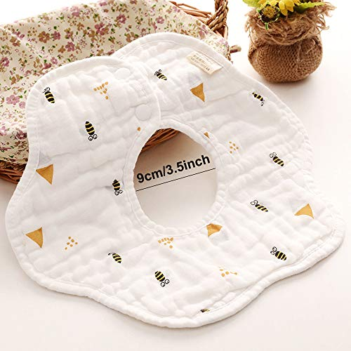 Muslin Bibs,MERLINAE Baby Bandana Drool Bibs 360 Bibs for Boys Girls Newborn Infant for Drooling and Teething,100% Organic Cotton and Super Absorbent Hypoallergenic Pullover Baby Bibs
