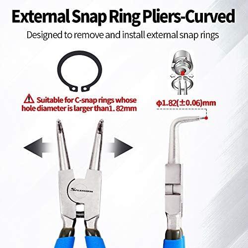 [スポンサー プロダクト]SPEEDWOX スナップリングプライヤー 穴用曲爪 90度 先端径1.75mm C型止め輪 着脱
