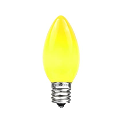 novelty lights 25 pack c9 ceramic outdoor christmas replacement bulbs yellow e17c9