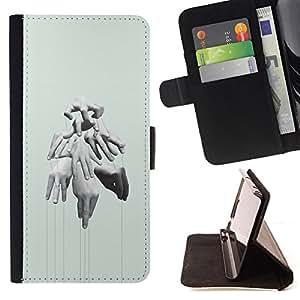 /Skull Market/ - HANDS PUPPET MASTER DEEP MEANING For Samsung Galaxy S3 Mini I8190Samsung Galaxy S3 Mini I8190 - Caja de la carpeta del tir???¡¯???€????€???
