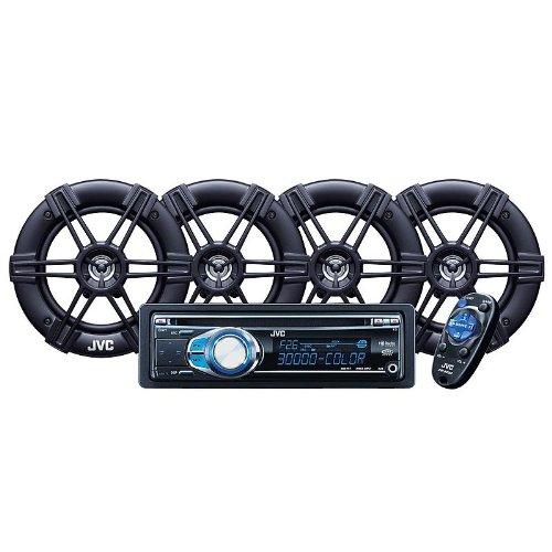 """JVC KDPKR3002 - CD Receiver with 2 pair of 6.5"""" Speakers"""