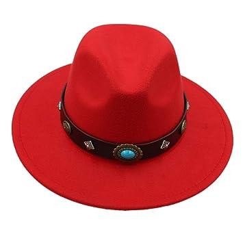 Sombrero- Marca de Lana de los Hombres Negro Papá Fedora para el Caballero de Lana
