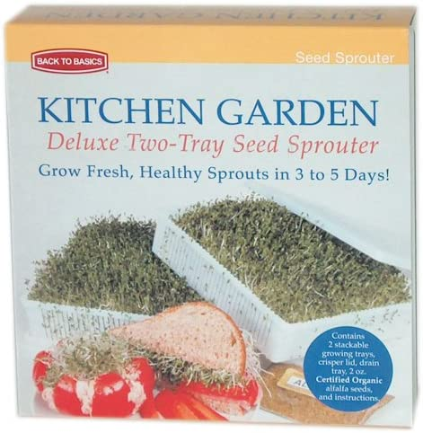 Kitchen Garden Deluxe Two-Tray Alfalfa Seed Sprouter