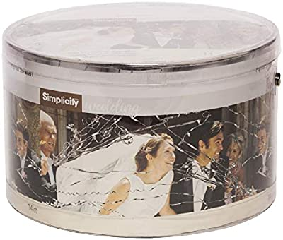 "Simplicity Pop Out Wedding Send Off Streamer Tubes, 14 pc, 4.2"" H"