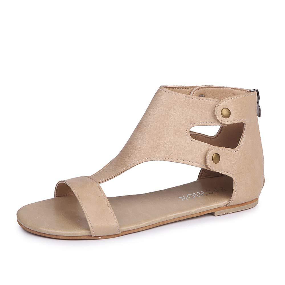 Chaussures Femme,Dames d'été Femmes Sandales Chaussures Plates Romaines à la Mode Chaussures de Sport,Chaussures