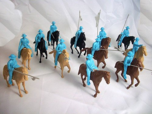 Alamo Round Hat Mexican Cavalry 12 Figures Plus 12 Horses in 54mm By Classic Toy Soldiers, Inc ()