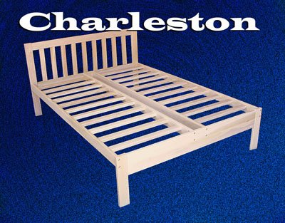 Charleston Platform Bed Frame - Solid Hardwood (Old-Queen) - bedroomdesign.us