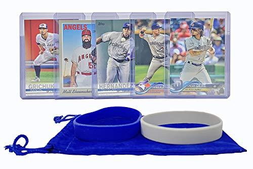 Toronto Blue Jays Baseball Cards: Freddy Galvis, Randal Grichuk, Brandon Drury, Teoscar Hernandez, Matt Shoemaker ASSORTED Trading Card and Wristbands -