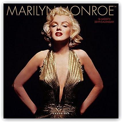 Amazon Com Graphique Marilyn Monroe Wall Calendar 16 Month 2019