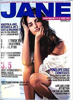 Book JANE Magazine March 2005 Penelope Cruz cover
