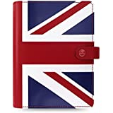 Filofax The Original A5 Leather Organizer Agenda 2016 + 2017 Calendars Union Jack Limited Edition with DiLoro Jot Pad Refill 022503