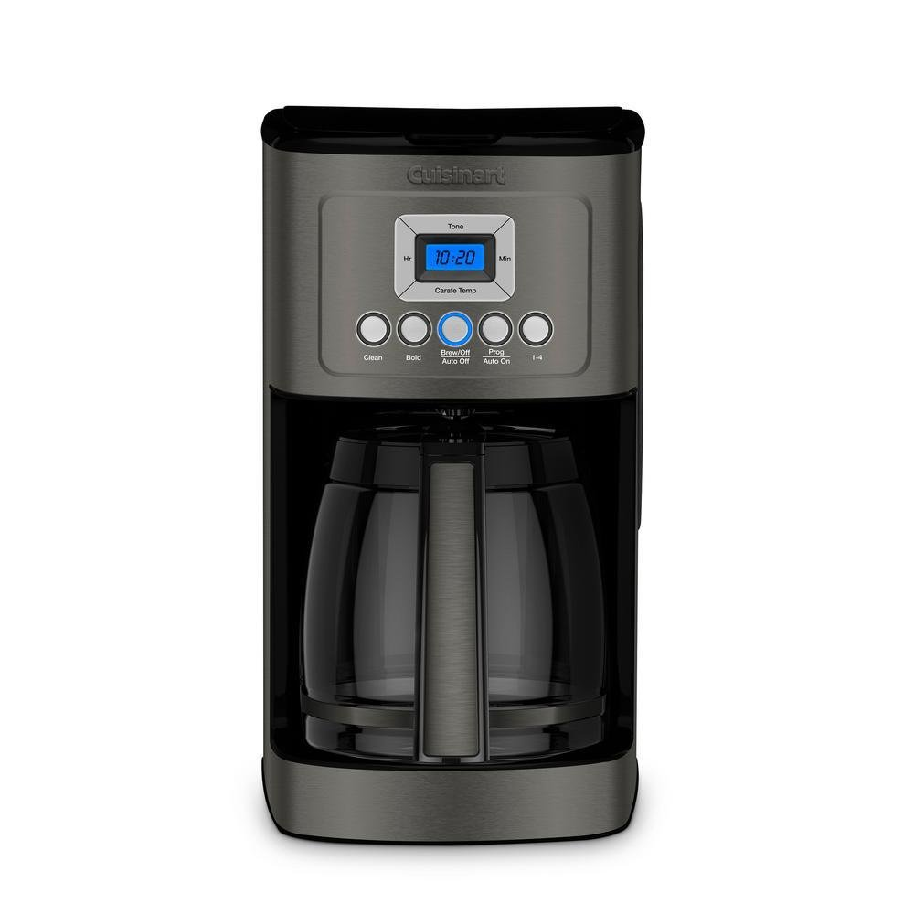 Cuisinart DCC-3200 Perfectemp Coffee Maker, 14 Cup Glass Carafe Black Stainless Steel (Certified Refurbished)