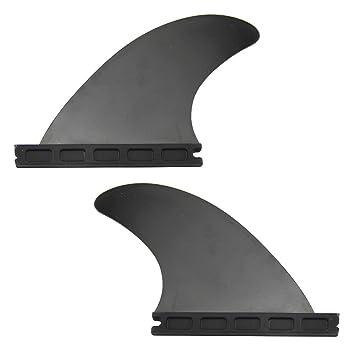 mangobuy futuro Juego de aletas tabla de surf negro y verde Color tabla de surf aletas aleta conjunto de 2 con futuros base GL aletas longboard: Amazon.es: ...