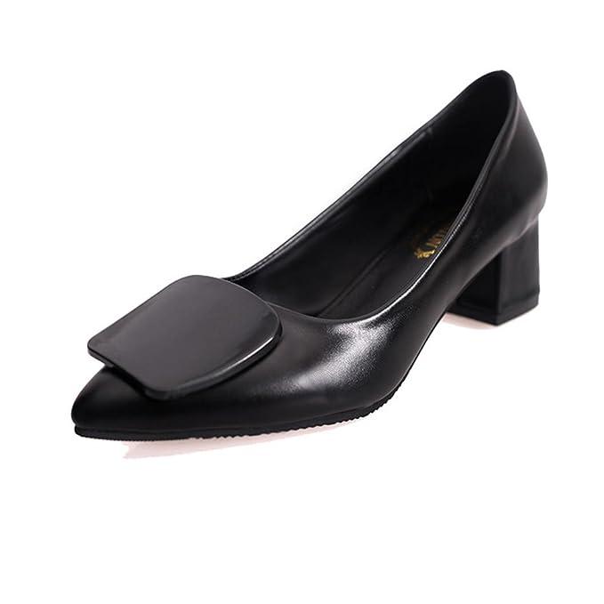 Dener Women Ladies Business Office Shoes Mules Designer Chunky Low