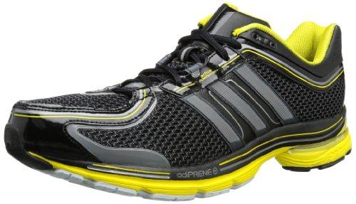 adidas Adistar Ride 4M Q34731, Herren Laufschuhe, Schwarz (Black 1 / Neo Iron Met. F11 / Vivid Yellow S13), EU 41 1/3 (UK 7.5)