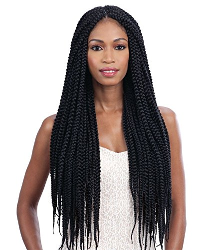 LONG LARGE BOX BRAID Black