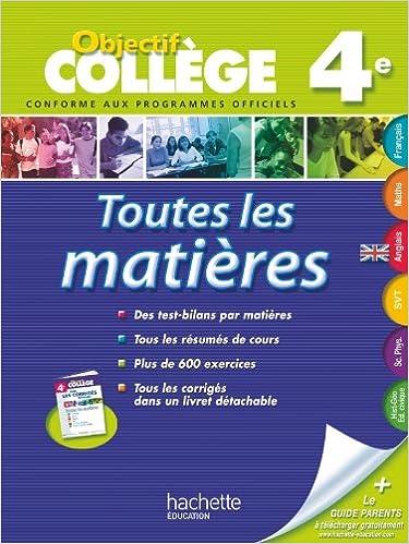 Download Online OBJECTIF COLLEGE - Toutes les matières 4e epub, pdf