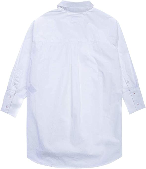 Camisa Tommy Denim Tjw Solid Oversized Blanca M 113: Amazon.es: Ropa y accesorios