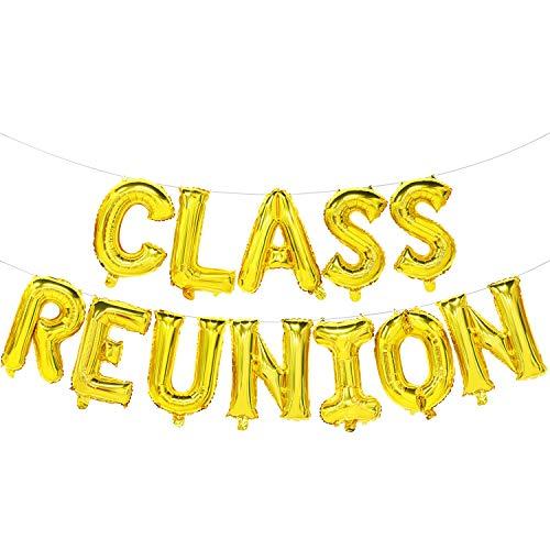 Class Reunion Balloons Banner - Class Reunion Decorations Gold - Class Reunion Party Supplies -
