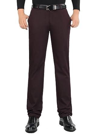 e025c5a3ae3 SK Studio Men s Casual Straight Leg Big and Tall Dress Pants Dark Red