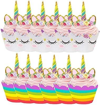 yyuezhi 12 Unicornio Mini Pastel Sombrero Superior 12 llanta ...