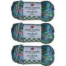 Stitch Studio Yarn by Nicole, Storybook Fanfare (3 Skeins) Water Ice Blue