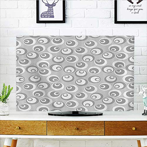 - Cover for Wall Mount tv Circles Like Nested Eyeballs AbstractModern Ornamental Cover Mount tv W20 x H40 INCH/TV 40