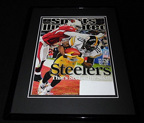 2009 Sports Illustrated Cover - Santonio Holmes 11x14 Framed ORIGINAL 2009 Sports Illustrated Cover Super Bowl