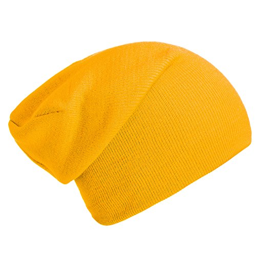diseño beanie Amarillo gorro gorro abrigo y suave moderno de de slouch invierno DonDon clásico qZn0x8wOn