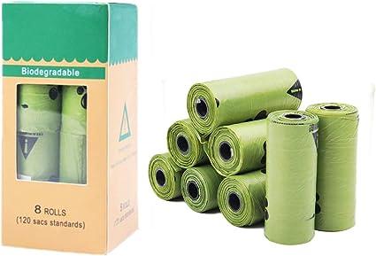 HJWL Bolsas para excrementos de Perros compostables – 120 Recuento ...