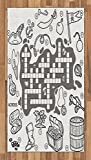 Word Search Puzzle Area Rug by