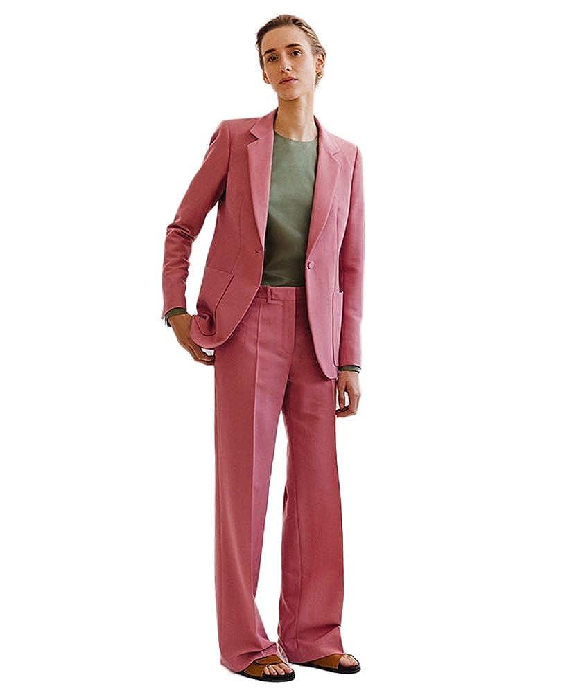 Wedding Suits For Women.Topg Women Deep Pink Business Suits 2 Piece Casual Suit Women