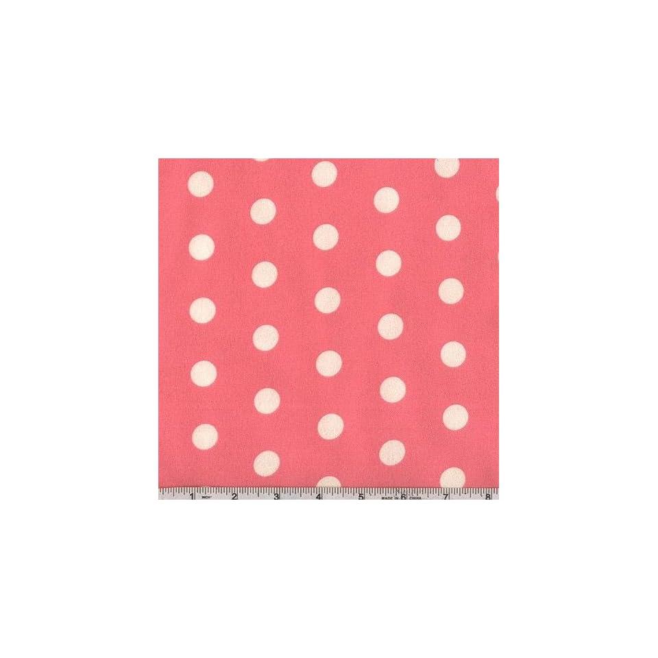 44 Wide Folk Tale Friends Flannel Polka Dot Hot Pink Fabric By The Yard