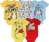 Disney Winnie The Pooh Tigger Eeyore Baby Boys Girls 5 Pack Bodysuits 3-6 Months